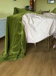 Moss Green Curtains Quality Moss Green Cotton Velvet Curtains In Newry County