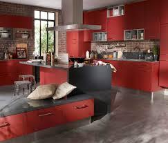 cuisine noir et rouge meuble cuisine bas rouge amazon fr armoires modules et