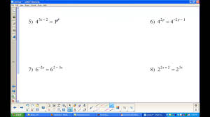 solving exponential equations without logarithms lessons tes