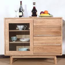 Solid Oak Dining Room Furniture Style Solid Wood Dining Side Cabinet Wine Cabinet White Oak Dining