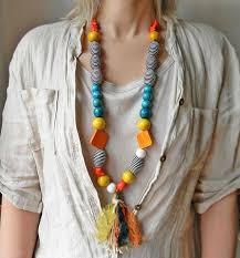 handmade long necklace images Extra long beaded necklace colorful funky necklace with jpg