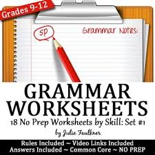 grammar worksheets lessons act prep skill drill vol 1 by
