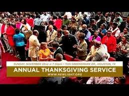new light christian center church new light christian center church annual thanksgiving service youtube