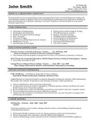 Example Of Healthcare Resume by Medical Resume Templates Free Downloads Medical Laboratory