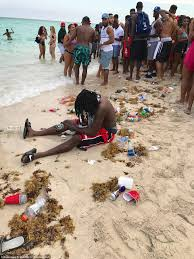 Trashing by Miami Police Face Off With Spring Break College Students Daily