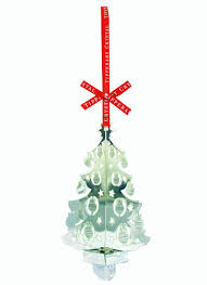 tipperary crystal silver 3d christmas tree ornament blarney