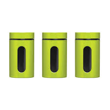 premier housewares storage canisters set of 3 lime green