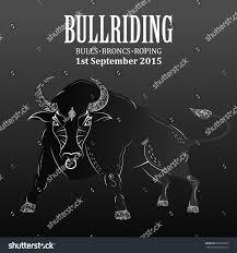 rodeo invitation bull ornaments stock vector