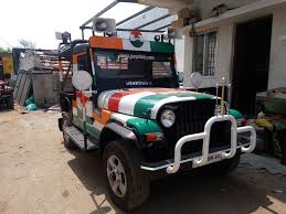 mahindra thar modified mahindra thar in tamilnadu election campaign 2016