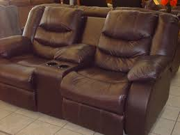 Black Leather Reclining Loveseat Living Room Magnificent Reclining Sofa With Console Images