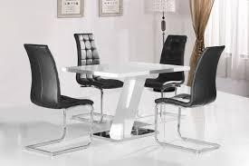 grazia white high gloss contemporary designer 120 cm compact dining