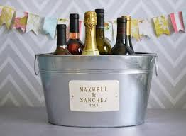 personalized wedding items personalized wedding gift large beverage tub with names