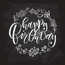 stock vector of sketched happy birthday text as birthday