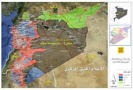 syrian desert forces liberated 57 500km2 of syrian desert maps