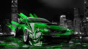green subaru wrx subaru impreza wrx sti jdm anime aerography city car 2014 el tony