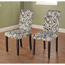 furniture simple cream and black rubber parsons chairs for modern