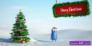 christmas logo after effects project videohive free after