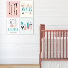 Kids Room Prints by Arrow Nursery Art Feather Wall Art Woodland Nursery Prints