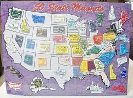 Fifty States Map Amazon Com All 50 State Magnets Plus Dc And Puerto Rico Complete