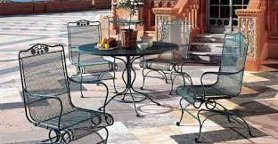 fair pendant for your wrought iron patio table and 4 chairs small