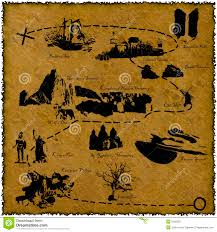 World Treasure Map by World Map On An Old Piece Of Paper Stock Vector Image 84188171