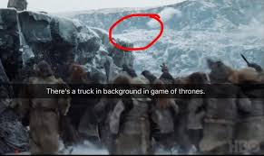 game of thrones season 7 did a pick up truck appear in beyond the