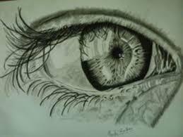 human eye sketch painting by artist prachi wardhan gallerist