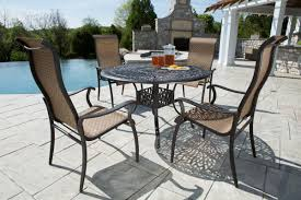 Stone Top Patio Table by Patio Furniture Brands For Backyard Of Suburbs House Cool House
