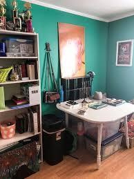 half closet half desk diy chalk board walk in closet make use of the space you have