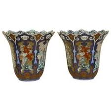 Japanese Kutani Vases Pair Of Antique Japanese Kutani Vases For Sale At 1stdibs