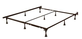 queen size sturdy 9 leg metal bed frame with headboard brackets