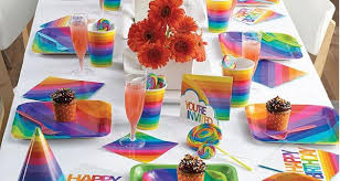 party items buy rainbow party supplies online at build a birthday nz