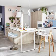 cuisine decor meuble de cuisine décor bois delinia nordik leroy merlin