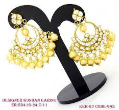 fancy earing kundan earring designer earring manufacturer from mumbai