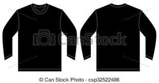vector of black long sleeve t shirt design template vector