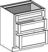 3 Drawer Base Cabinet Base Lower Kitchen Cabinets Ready For Assembly All Wood