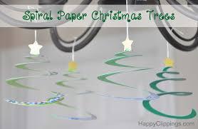 diy spiral paper christmas trees