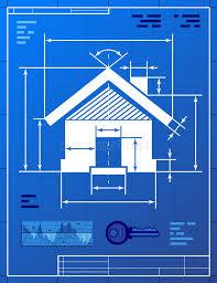 home symbol like blueprint drawing stock photo image 32692440