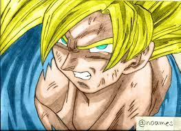 imagenes de goku para dibujar faciles con color dragon ball z mi dibujo de goku d arte taringa