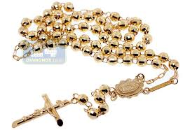 rosary chain necklace images 10k yellow gold mens rosary chain necklace 17 inches jpg