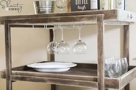 build a bar cart diy bar cart shanty 2 chic kitchen ware
