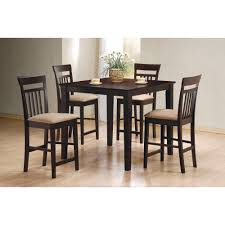 bar height dining room sets mix match 5 piece counter height dining set
