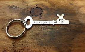 our first home keychain new home gift gift for new home