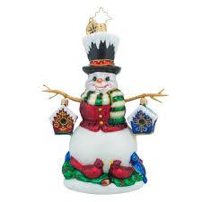 christopher radko ornaments radko feast for friends snowman