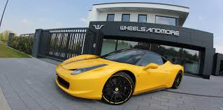 ferrari yellow 458 ferrari 458 tuning wheels and exhaust wheelsandmore