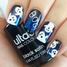 nails by jema cute halloween ghosts mani and gel pen announcement