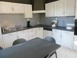 repeindre une cuisine en bois photos de cuisine repeinte renover bois en grise parquet clair