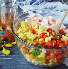bloody mary shrimp pasta salad wonkywonderful