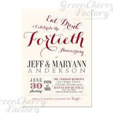 40th anniversary invitations formal ruby 40th anniversary invitations 40th