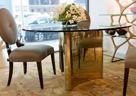 abbot round metal dining table bernhardt interiors luxe home